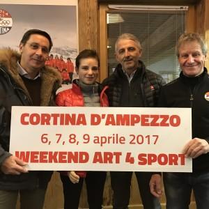 BEBE VIO SCIERÀ A CORTINA CON I RAGAZZI DI ART4SPORT